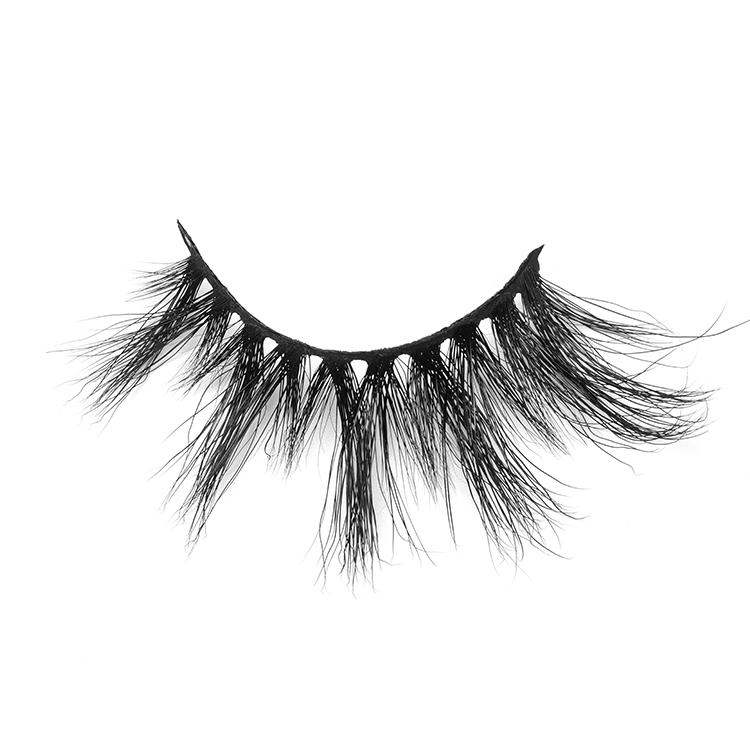 25mm Handmade 5D Fluffy Mink Strip Eyelashes Wholesale